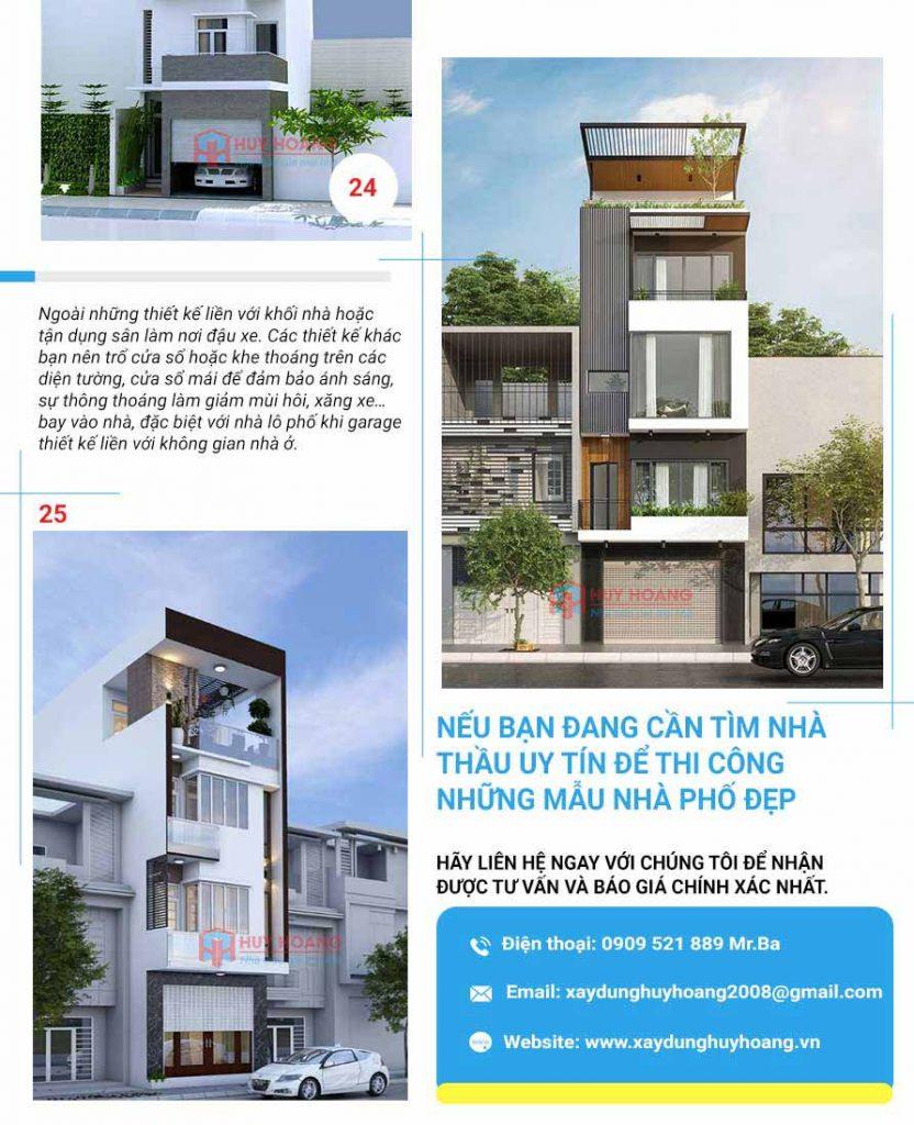 25 mẫu nhà phố đẹp có garage 11
