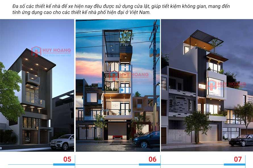 25 mẫu nhà phố đẹp có garage 3