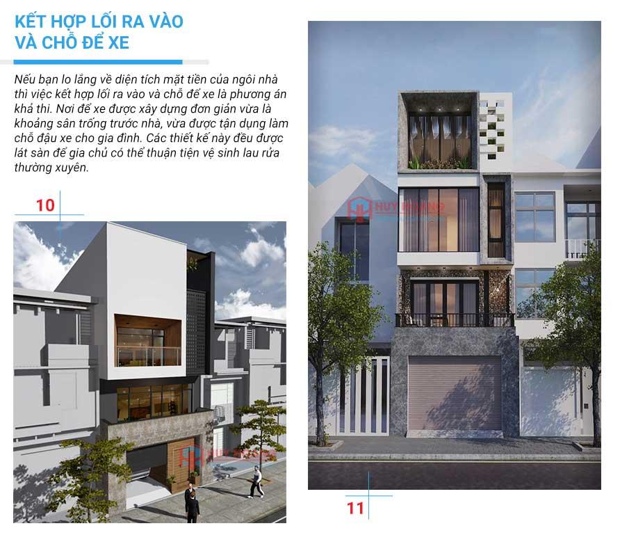 25 mẫu nhà phố đẹp có garage 5