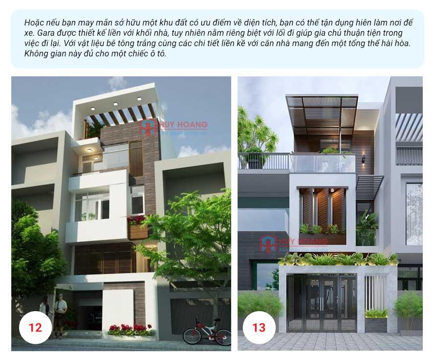 25 mẫu nhà phố đẹp có garage 6