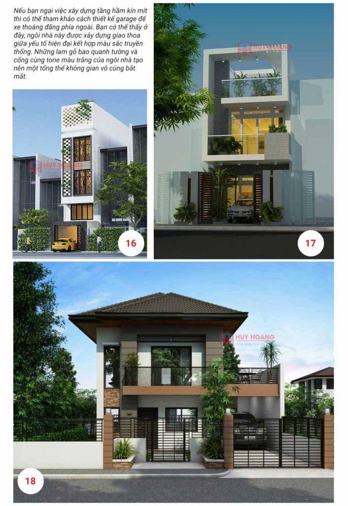 25 mẫu nhà phố đẹp có garage 8