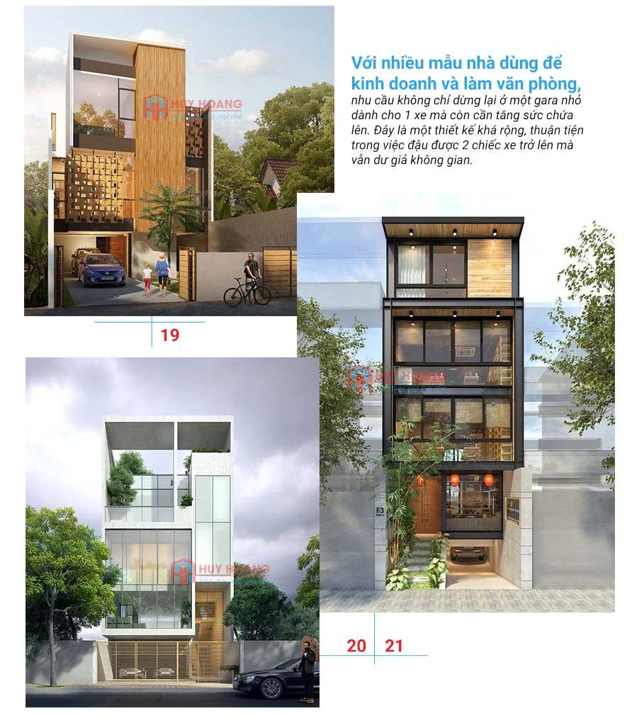 25 mẫu nhà phố đẹp có garage 9