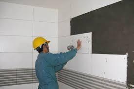 thi công ốp gạch tường