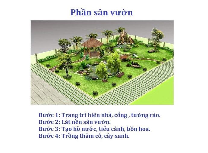 xây dựng sân vườn