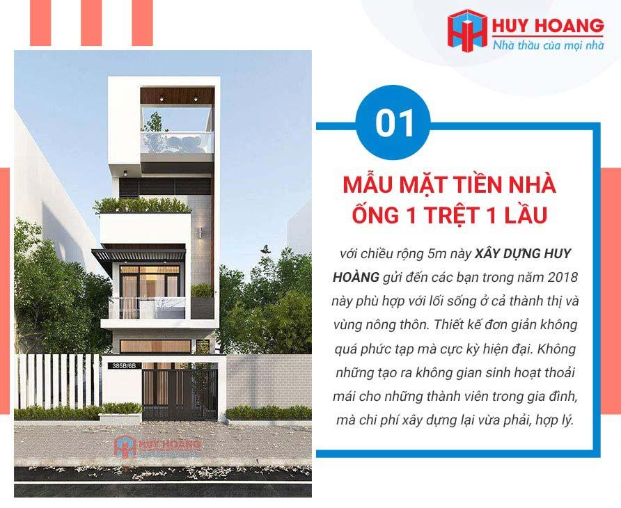 Top 10 mẫu nhà phố đẹp được ưa chuộng tại xây dựng Huy Hoàng