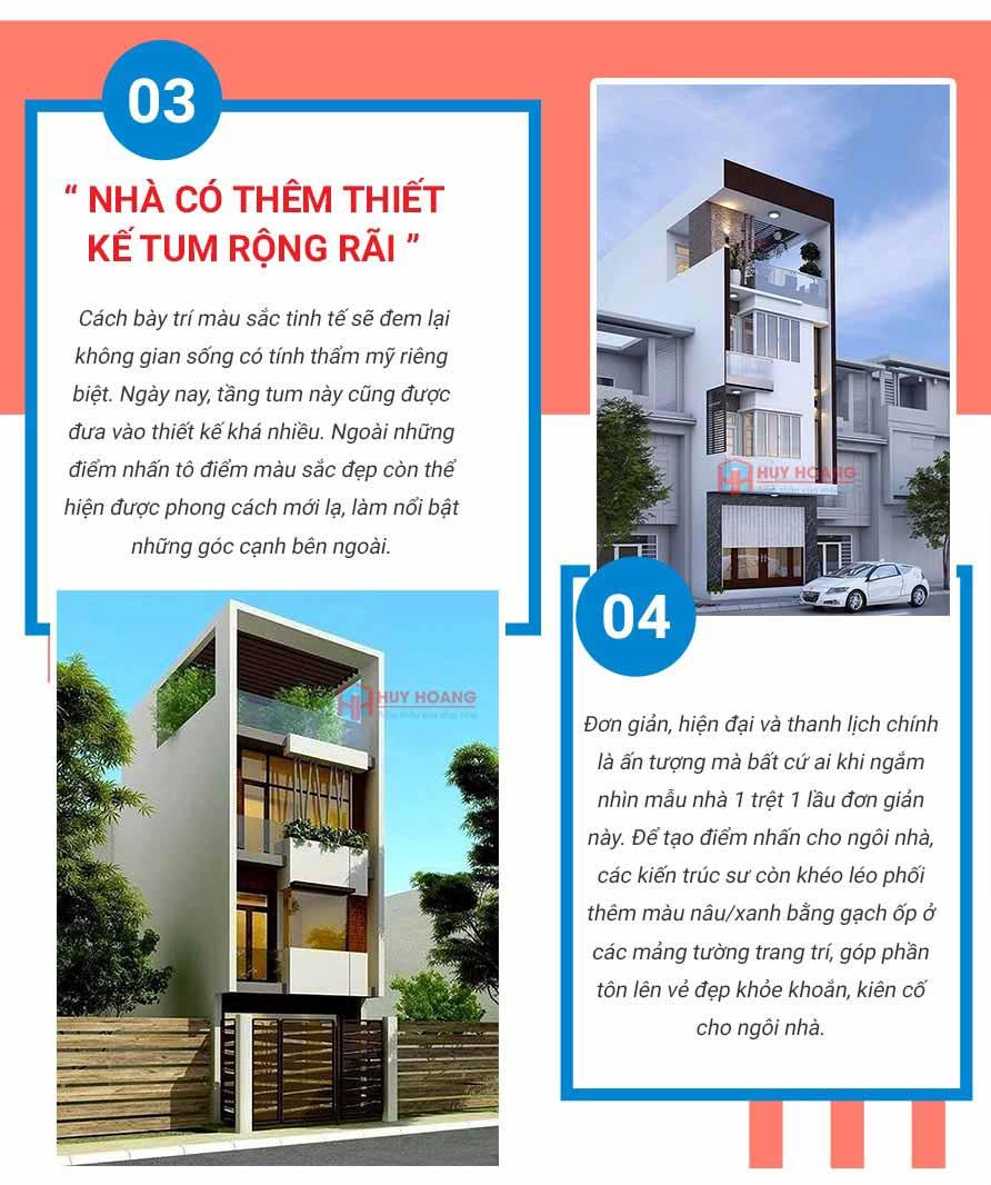 Top 10 mẫu nhà phố đẹp được ưa chuộn tại xây dựng huy hoàng 3