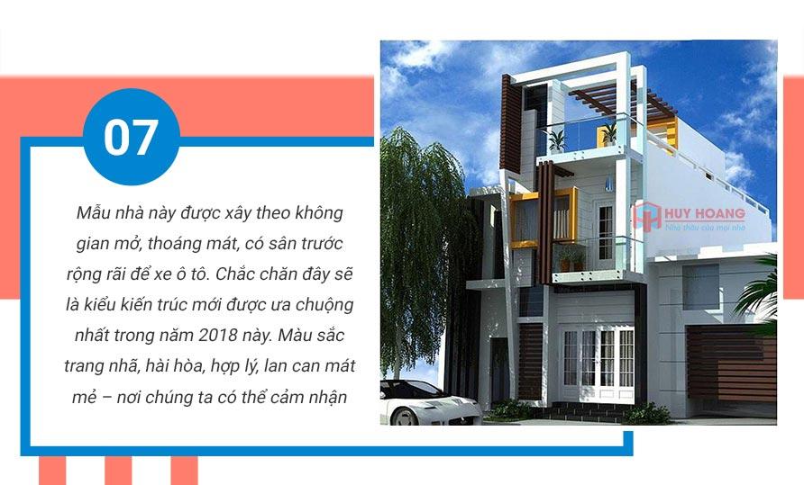 Top 10 mẫu nhà phố đẹp được ưa chuộn tại xây dựng huy hoàng 5