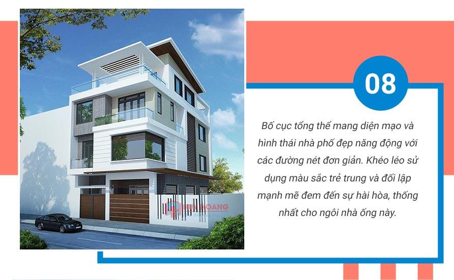 Top 10 mẫu nhà phố đẹp được ưa chuộn tại xây dựng huy hoàng 6
