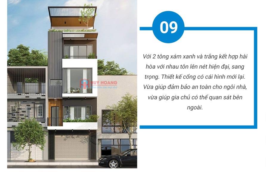Top 10 mẫu nhà phố đẹp được ưa chuộn tại xây dựng huy hoàng 7