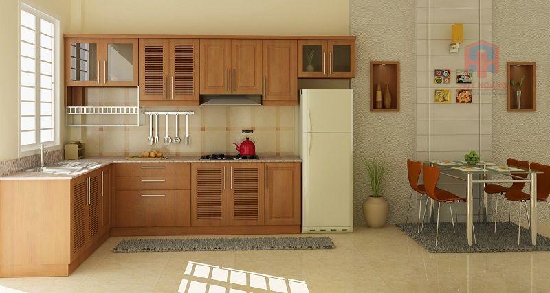 Không gian thoáng đãng sẽ tốt cho phong thủy nhà bếp