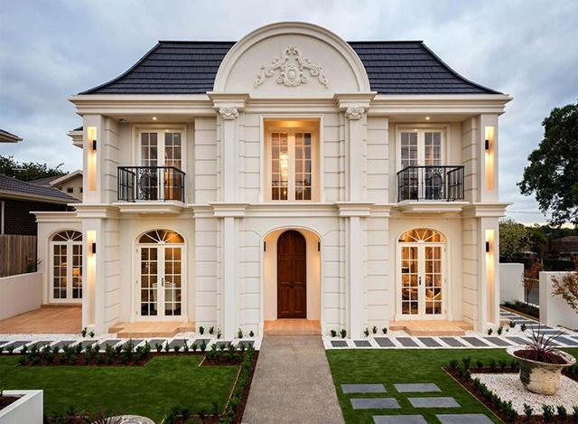 10+ Mẫu biệt thự tân cổ điển 2 tầng đẹp tinh tế